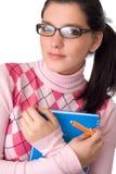 Girl holding notebook Stock Photos