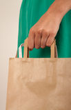 Girl holding paper bags Royalty Free Stock Photos