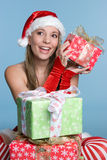 Girl Holding Present Royalty Free Stock Image