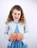 Girl holding present Stock Photography