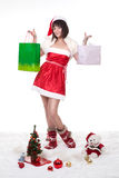 Girl holding presents Stock Photography