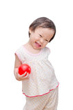 Girl holding red ball Stock Image
