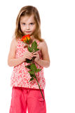 Girl Holding Rose Royalty Free Stock Photo