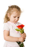 Girl holding rose Royalty Free Stock Image