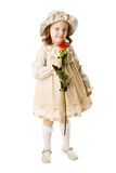 Girl holding rose Royalty Free Stock Photos