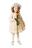 Girl holding rose royalty free stock photos