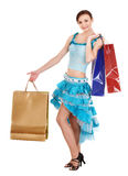 Girl holding shopping bag. Stock Photos