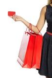 Girl holding shopping bag Stock Photo