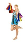 Girl holding shopping bags. Stock Images