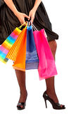 Girl holding shopping bags Stock Photo
