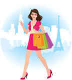 Girl holding shopping bags Royalty Free Stock Image