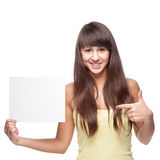 Girl holding sign Royalty Free Stock Photos