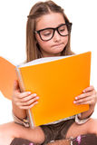 Girl holding a sketchbook Royalty Free Stock Photos