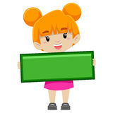 Girl holding Subtraction Symbol royalty free illustration
