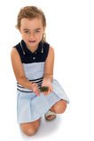 Girl holding a turtle Royalty Free Stock Photos
