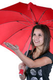 Girl holding an umbrella Royalty Free Stock Image