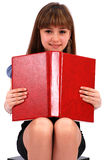 Girl holds the open book Stock Photos
