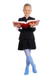 Girl holds the open book Stock Images