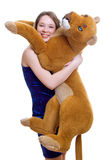 Girl holds the Toy animal Royalty Free Stock Photos