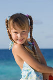 Girl on holiday. Cute little girl on vacation Royalty Free Stock Photos