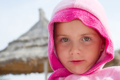 Girl on holiday Stock Photos