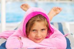 Girl on holiday Stock Photography