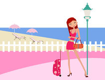 girl on holiday Royalty Free Stock Image