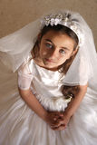 Girl holy communion Royalty Free Stock Photo