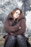 Girl homeless Stock Photo