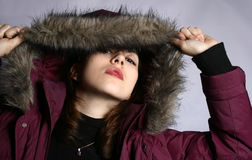 The girl in a hood. Royalty Free Stock Photos