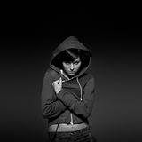 Girl in hood Stock Images