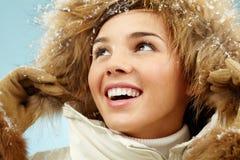 Girl in hood Royalty Free Stock Photo