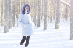 Girl in hooded jacket Royalty Free Stock Image