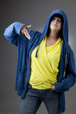 Girl in a hooded jacket Royalty Free Stock Images
