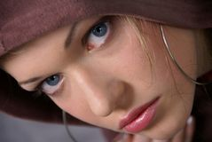 Girl in a hoodie Stock Photo