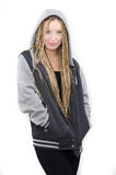 Girl with hoodie Royalty Free Stock Image