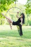 Girl on the hoop Stock Photos