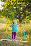 Girl with hoop Stock Photo