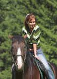 Girl on horse Royalty Free Stock Images