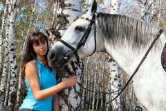 Girl on a horse Stock Photo