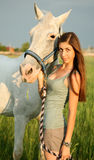 The girl and horse Royalty Free Stock Photography