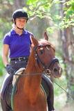 Girl on horse Stock Photo