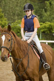 Girl horse riding Royalty Free Stock Photos