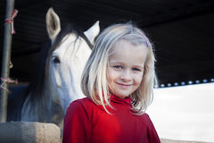 Girl with horse royalty free stock photos