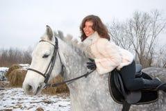 Girl horseback Stock Image