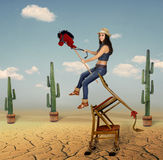 Girl on horseback. Stock Photography