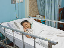 Girl in hospital Royalty Free Stock Photography