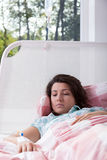 Girl in hospital during treatment Royalty Free Stock Photography