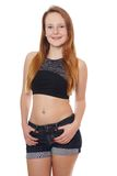 Girl in hot pants Royalty Free Stock Image