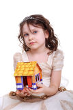 Girl and house Royalty Free Stock Images